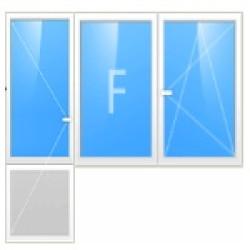 Балконный блок ( дверь поворотная + окно глухое )